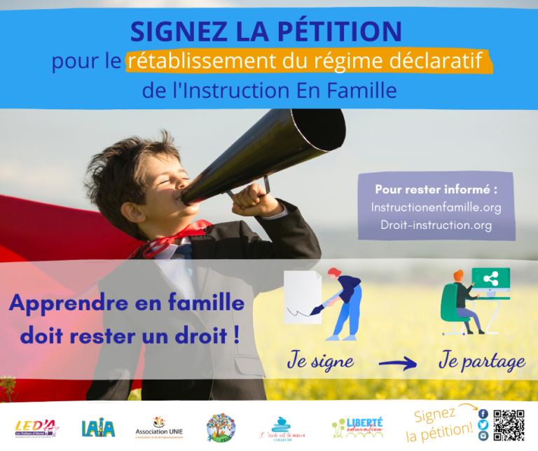 Signez et partagez la pétition